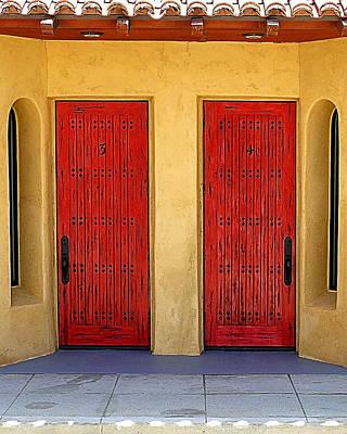 Photograph - Double Door by Wayne Wood
