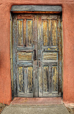 Photograph - Double Doors In Santa Fe by Ken Smith