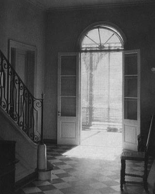 White House Photograph - Double Doors In The Home Of Dr. Joseph Weis by Raymond Bret-Koch