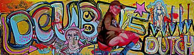 Grafitti Mixed Media - 'double Dutch' by Andy Waudby