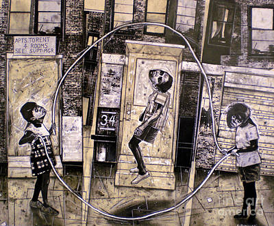 Realist Mixed Media - Double Dutch by Sol Robbins