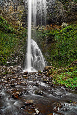 Double Falls In Silver Falls State Park In Oregon Art Print by Jamie Pham
