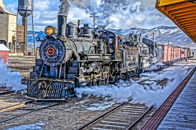 Photograph - Double Header Nevada Northern Railway #1 by Tom and Pat Cory
