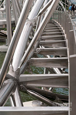 Photograph - Double Helix Bridge 03 by Rick Piper Photography