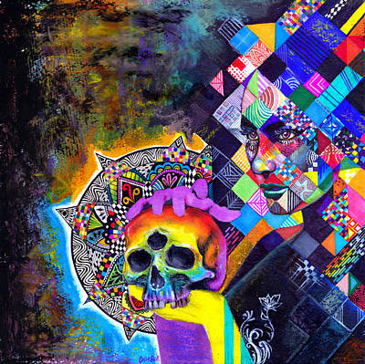 Trippy Mixed Media - Double Helix by Callie Fink