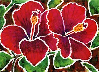 Painting - Double Hibiscus by Katie Sasser