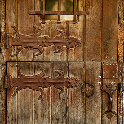 Hand Made Photograph - Double Hinges by Art Block Collections