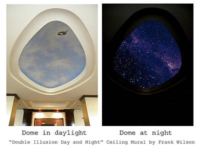 Glow In The Dark Painting - Double Illusion Day And Night Ceiling Mural by Frank Wilson