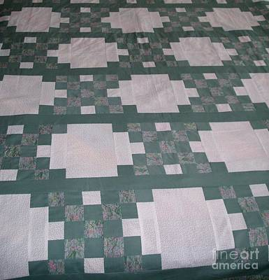 Home Made Quilts Photograph - Double Irish Chain Quilt by Gail Matthews