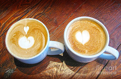 Mixed Media - Double Latte Love by Shari Warren