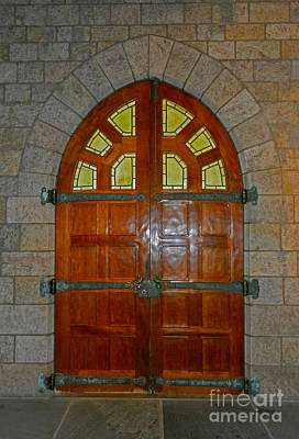 Photograph - Double Leaf Cathedral Door by Val Miller