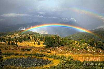 Photograph - Double Mountain Rainbow by Adam Jewell