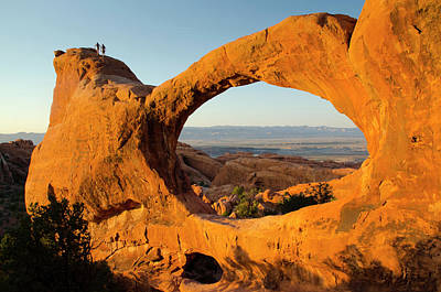 Double O Arch Photograph - Double O Arch, Arches National Park by Roddy Scheer