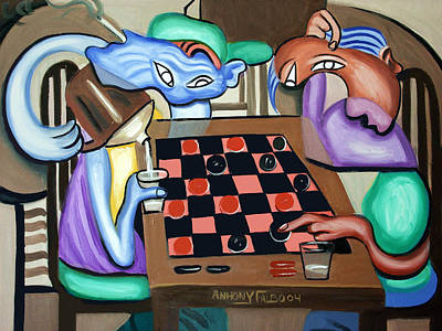 Painting - Double Or Nothing by Anthony Falbo