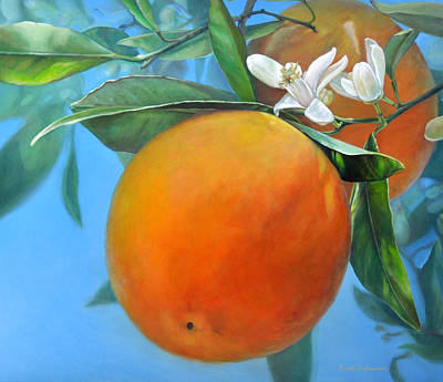 Painting - Double Orange by Muriel Dolemieux