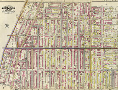 Atlantic Avenue Drawing - Double Page Plate No. 26 Bounded By Grand Avenue by Litz Collection
