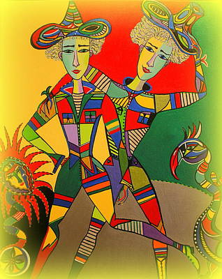 Painting - Let's Go Brother by Marie Schwarzer