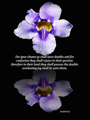 Floral Photograph - Double Portion by Debbie Nobile