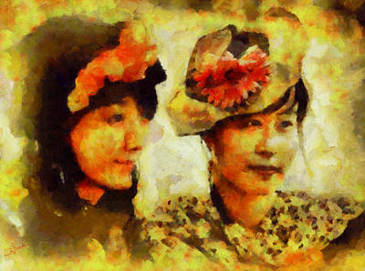 Dream Painting - Double Portrait by George Rossidis