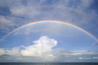 Photograph - Double Rainbow At Sea by Bradford Martin