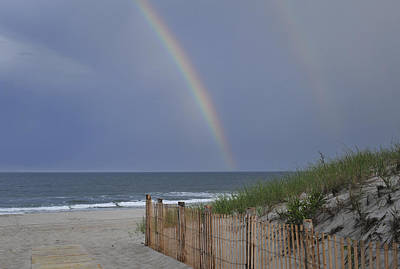 Photograph - Double Rainbow Beach Seaside Park Nj by Terry DeLuco