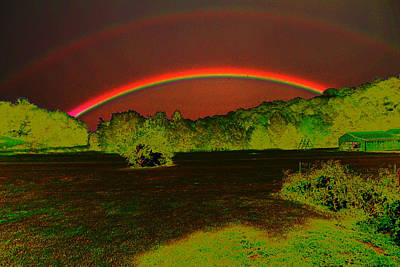 Photograph - Double Rainbow by David Yocum