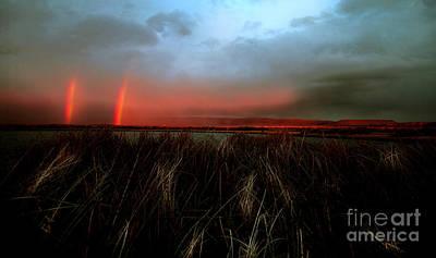 Buckaroo Photograph - Double Rainbow Harney Oregon by Michele AnneLouise Cohen