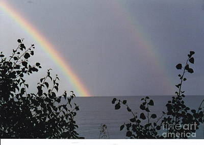 Photograph - Double Rainbow Joy by Barbara Plattenburg