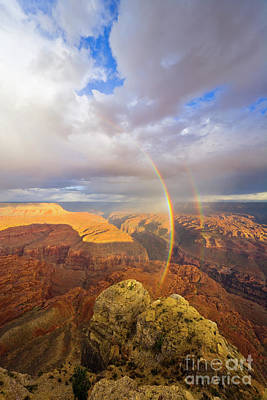 Photograph - Rainbow Kanab Pt Grand Canyon by Yva Momatiuk John Eastcott