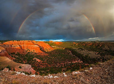 Double Rainbow Photograph - Double Rainbow by Leland D Howard