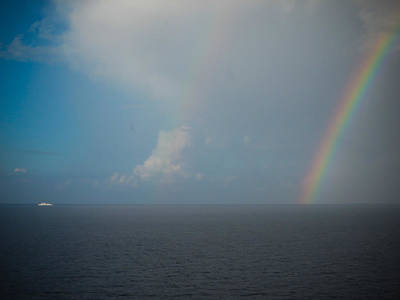 Photograph - Double Rainbow On The Mediterranean Sea by Anthony Doudt