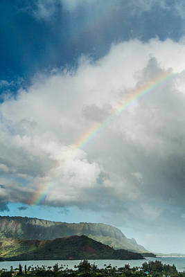 Photograph - Double Rainbow Over Hanalei Bay by Roger Mullenhour