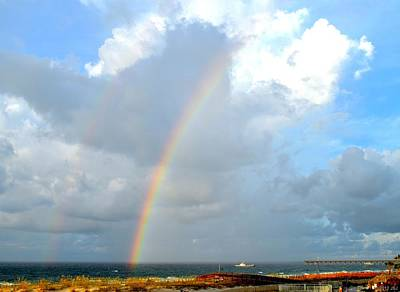 Photograph - Double Rainbow Over Pensacola Beach by Jeff at JSJ Photography