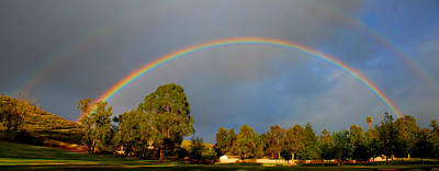 Photograph - Double Rainbow Panorama by Lynn Bauer