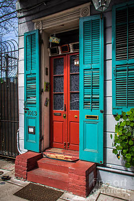 Double Red Door Art Print by Perry Webster