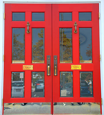 Photograph - Double Red Doors by Caroline Stella