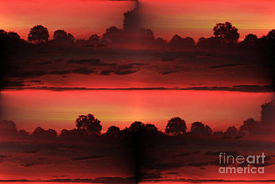 Double Red Sunrise Art Print