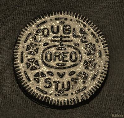 Photograph - Double Stuff Oreo In Sepia Negitive by Rob Hans