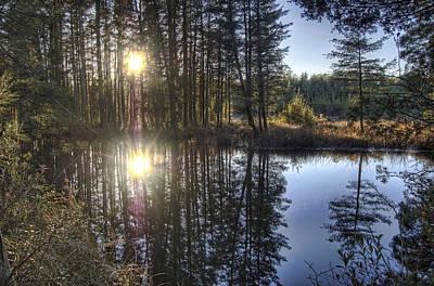 Photograph - Double Sunset Batsto River by Greg Vizzi