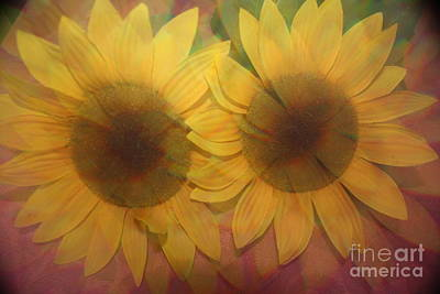 Double Sunshine -impressionistc  Sunflowers Original