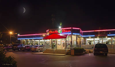 Double T Diner At Night Art Print