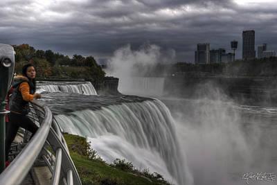 Niagara Falls Photograph - Double Take At Niagara Falls Ny by Michael Frank Jr