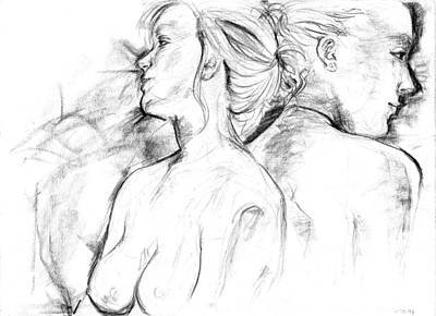 Drawing - Double Take by Miguel Karlo Dominado