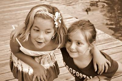 Photograph - Double Trouble - Best Friends Forever by Linda Rae Cuthbertson