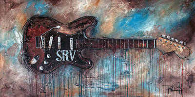 Acoustic Guitar Painting - Double Trouble by Sean Parnell