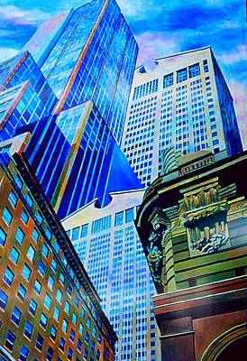 Painting - Double Vision Nyc by Nancy Wait