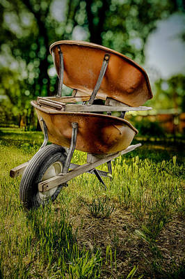 Photograph - Double Wheelbarrow by Yo Pedro
