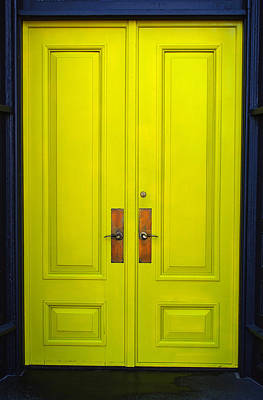 Photograph - Double Yellow Doors by Tikvah's Hope