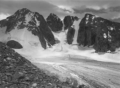 Photograph - 509431-bw-dinwoody Glacier, Wind Rivers by Ed  Cooper Photography