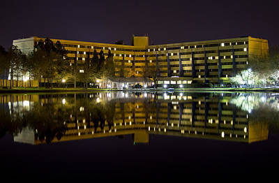 Photograph - Doubletree Hotel Reflection by Ben Shields